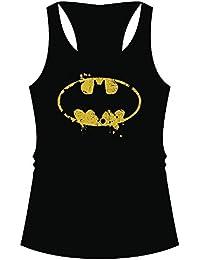 Damen Tank Top DC Batman - Logo Grunge Racerback Schwarz