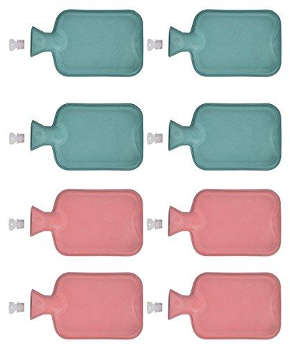 8x Wärmflaschen aus Gummi | Wärmflasche | Wärme flasche 1 Liter | Wärmeflasche