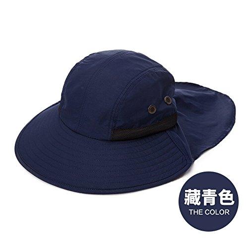 LLZTYM Mâle/Été/Extérieur/Crème Solaire/Suncap/Pliant/Chapeau De Pêche/Chapeau De Soleil/Chapeau De Pêcheur/Chapellerie/Cadeau/Chapeau E blue