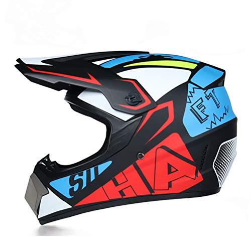 Generic Motorradhelm Flip Erwachsene Fahrrad Motocross Offroad Helm Atv Dirt Bike Downhill MTB DH Racing Helm Cross Helm Capacetes - Helm Mohawk Fahrrad
