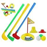 73JohnPol 1 Satz Multicolor Kunststoff Golf Spielzeug für Kinder Outdoor Hinterhof Sport Spiel Weltweit (Farbe: Multicolor)