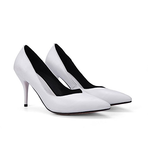 Adee Mesdames pointed-toe massif Chaussures Pompes en cuir Blanc