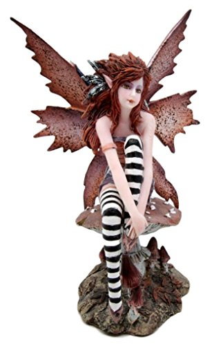 Atlantic Sammlerstücke Amy Braun Rothaariger Enchanted Forest Mushroom Fairy Deko Figur 15,9cm H -