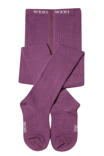 Weri Spezials Baby Strumpfhose in Violet Gr. 92/98 (2-3 Jahre) UNI Glatt