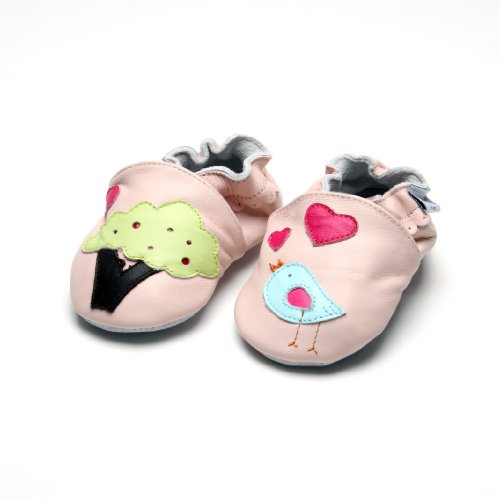 Kinderschuhe - Hausschuhe - Vögelchen - Jinwood tree & bird pink Pink