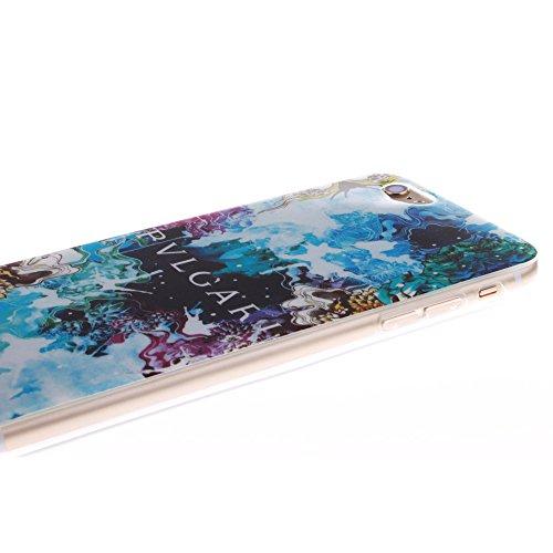 Pour Apple iPhone 6 4.7 pouce Cas, MCHSHOP Ultra-mince TPU Silicone Cover souple Phone Housse Coque de protection pour iPhone 6 4.7 pouce - 1 gratuit Touch Pen (Blanc tête de tigre) belle bleue