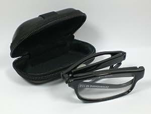 Praktische faltbare Lesebrille Lesehilfe unisex +2,5 Diop. Kunststoff Sehhilfe mit Etui schwarz