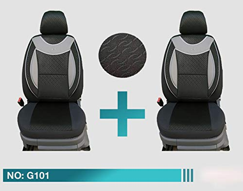 Maß Sitzbezüge VW Caddy IV Fahrer & Beifahrer ab BJ 2015 Farbnummer: G101