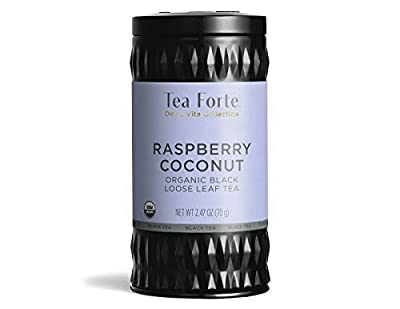Tea Forte Raspberry Coconut Dolce Vita - Thé noir Bio Vrac Framboise Coco 70g by Tea Forté