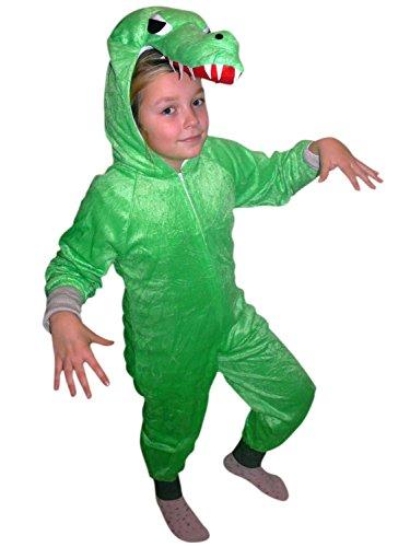 Krokodil-Kostüm, An64/00 Gr. 110-116, für Kinder, Krokodil-Kostüme Krokodil für Fasching Karneval, Alligator Klein-Kinder Karnevalskostüme, Kinder-Faschingskostüme, Alligatoren - Alligator Kostüm Für Erwachsene