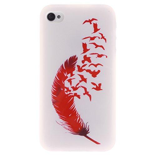 MOONCASE iPhone 4 4S Case Coque Housse Silicone Etui Case Soft Gel TPU Cover pour iPhone 4 4S -TX10 ST10