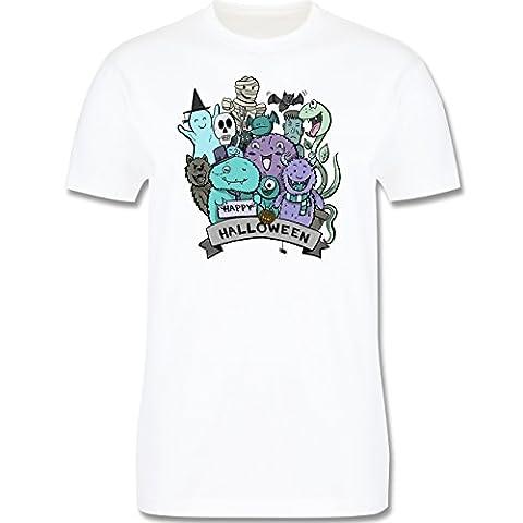 Anlässe Kind - Happy Halloween Monster - 86-94 (2-3 Jahre) - Weiß - L190K - Premium Kinder T-Shirt aus Baumwolle für Mädchen und (Gute Halloween-kostüme Für Gruppe 3)