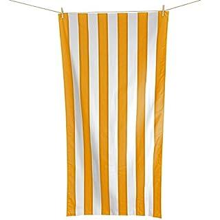 Andes Microfibre Beach Towel - Orange 200cm x 90cm