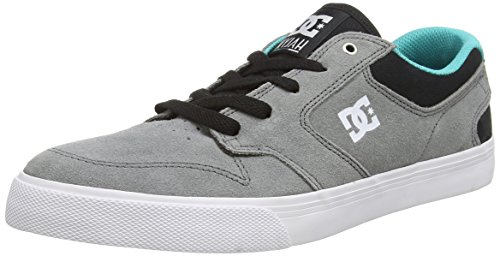 DC Shoes Nyjah Vulc, Baskets Basses homme Gris (Grey/Black/Green)