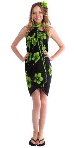 1mundo pareos para mujer Bañador de flor de Hibiscus Sarong en color de su elección