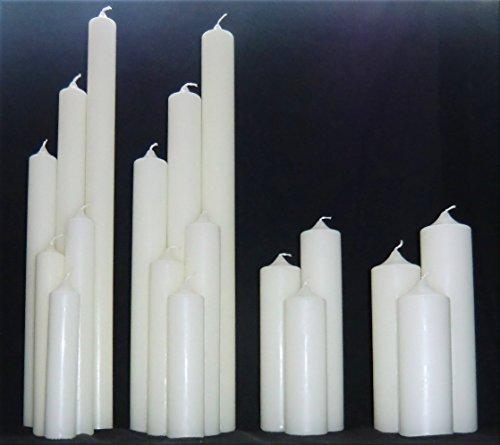 Kerzenrohling für Taufe, Geburtstag, Hochzeit, Kommunion, RAL Kerze aus Ceresin zum Basteln und Verzieren (400 x 40 mm, Elfenbein)