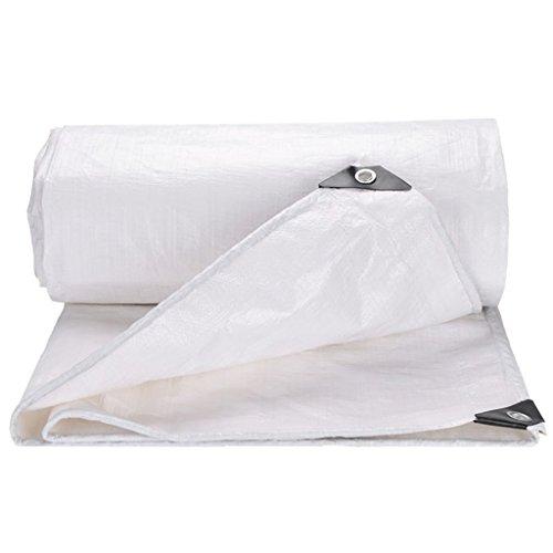Gyh impermeabile telo - telo impermeabile antipolvere per camion e tele copertura per tenda da campeggio e da esterno, opzioni multi-formato (bianco) @ (colore : bianca, dimensioni : 4mx6m)