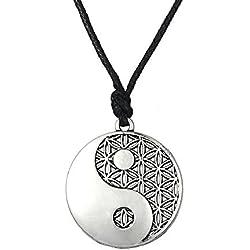 LIKGREAT Taolist Ying Yang Collar con Colgante de Equilibrio de la Vida, China Religions Talisman