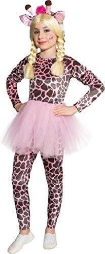 Fancy Me Mädchen rosa Giraffe Tutu wildes Tier Dschungel Safari Welttag des buches-Tage-Woche Karneval Kostüm Kleid Outfit - Rosa, 4-6 Years (116cm)