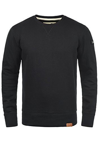 !Solid Trip O-Neck Herren Sweatshirt Pullover Pulli Mit Rundhalsausschnitt Und Fleece-Innenseite, Größe:XXL, Farbe:Black (9000)