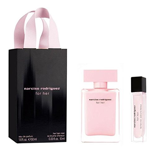 Narciso Rodriguez For Her Geschenkset 50ml EDP Eau de Parfum Spray + 10ml EDP Eau de Parfum Spray - 10 Ml Eau De Parfum Spray