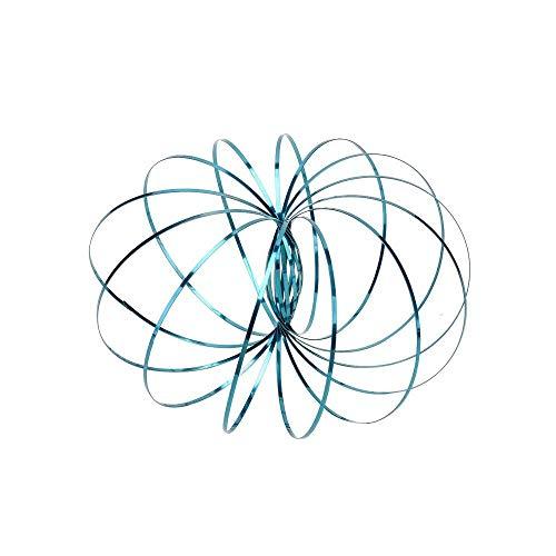 TotallyFashion Oamore Flow Ring Lernring Federspielzeug erstaunliches Magic Science Spielzeug Multi Sensory Interaktive 3D Form Flow Ring für Kinder und Erwachsene (hellblau)