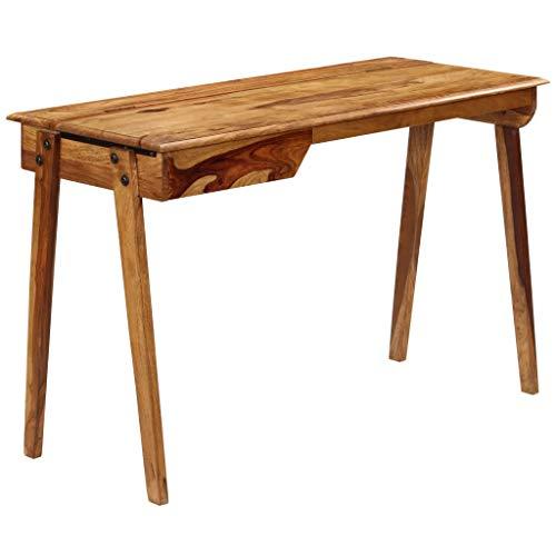 vidaXL Sheeshamholz Massiv Schreibtisch Arbeitstisch Computertisch Büro Tisch
