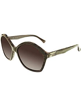 Calvin Klein Platinum - CK4284S, Rechteckig, Acetat, Damenbrillen, STRIPED GREY/SMOKE BROWN SHADED(332 ), 58/17...