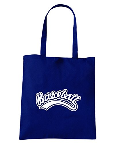 T-Shirtshock - Borsa Shopping SP0055 College Baseball Maglietta Blu Navy