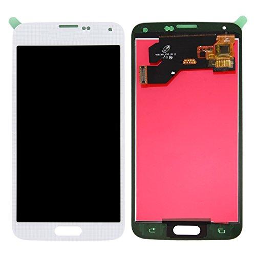 DELANSHI Handy-Ersatzteile Ersatz LCD-Bildschirm + Touchscreen Digitizer Assembly for Samsung Galaxy S5 Telefon Ersatzteile (Großauswahl : for s5/d31 White)