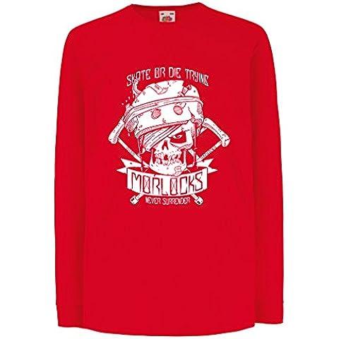 N4605D La camiseta de los niños con mangas largas Skate or Die Trying