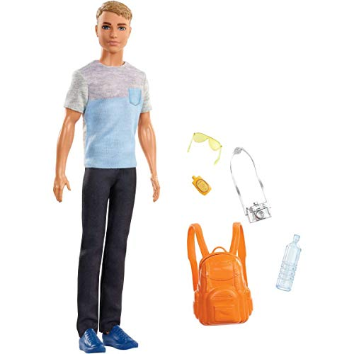 Barbie Muñeco Ken Vamos viaje accesorios Mattel FWV15