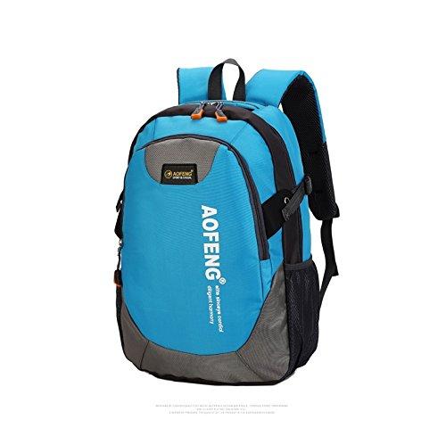 Wtus Unisex Sport Allaria Aperta Per Il Tempo Libero Borsa A Tracolla Impermeabile Ultra-leggero Zaino Zaini Da Trekking In Nylon Azzurro