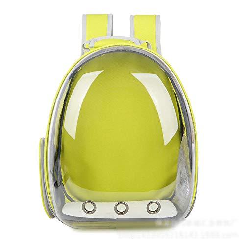 Katze Hund Rucksack, Puppy Pet Carrier Front Bag mit atmungsaktivem Head Out Design und Double Mesh gepolsterte Schulter für Outdoor @ Yellow_34X25X42cm -