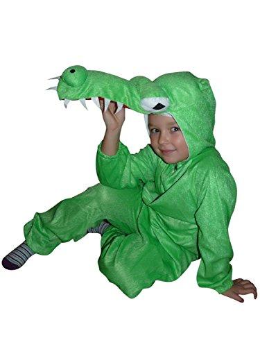 AN64 Größe 116-122 Krokodil Kostüm für Kleinkinder und Kinder, bequem über normale Kleidung zu tragen (Alligator Kleinkind Kostüm)