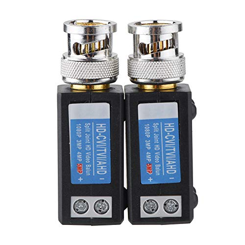 Mugast 1 Paar (2 Stüke) Passiver Mini Video Balun Transceiver für Analoge AHD 720 960 1080p Kameras,Kompatibel mit HD CVI HD TVI HD AHD Signalen Einfache Installation Mini-video-transceiver