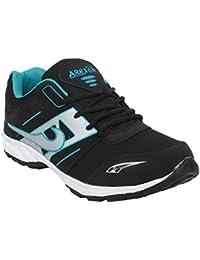 Arexon Men's Synthetic Black Colored Sport Shoe( Men's Running Shoe, Breathable Sports Shoe, High Grip Sports... - B074Q1Z831