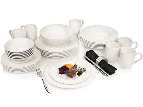Villeroy & Boch Group - Soul - Geschirrservice aus Porzellan 30 teilig | Hochwertiges Kombiservice bestehend aus 3 verschiedenen Tellern, Kaffeetassen, Schalen und einer extra Salatschale