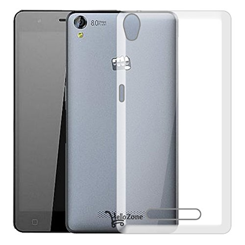 Hello Zone Exclusive Soft Transparent Crystal Clear Back Cover Back Case Cover For Micromax Canvas Fire 6 Q428  available at amazon for Rs.139
