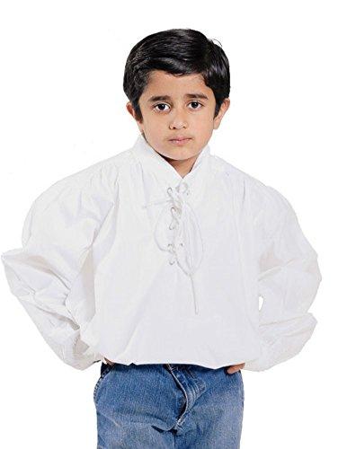 (Bäres Mittelalter Hemden, Tuniken kleiner Recke - Kinder Markthemd - Kinder Henri für 12-14 jährige/weiss)