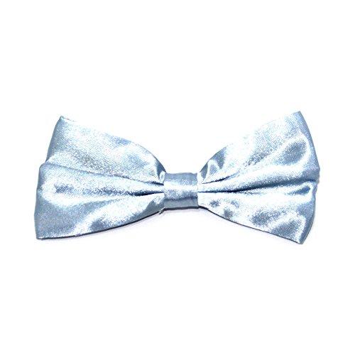 Homme Satin Nœud Papillon - Disponible en un Variété de Couleurs Bleu - Bleu bébé