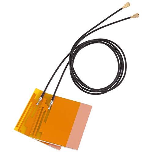 LWL House 1 Paar Mini PCI-E WiFi Interne Antenne Universal Laptop WiFi Bluetooth Gelbe Filmantenne Für Tablets mit WLAN-Karte Durable -