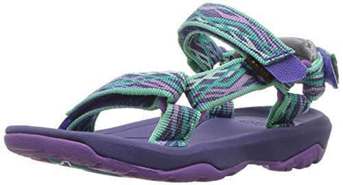Teva Girls' T Hurricane XLT 2 Sport Sandal, Delmar Sea Glass/Purple, 4 M US Toddler