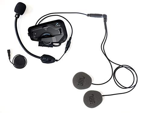 Cardo FRC4P001 Plus-Sistema de comunicación Bluetooth de Motocicleta de 4 vías con operación de Voz Natural, Sonido de jbl (Paquete único), Negro, Freecom 4 Soltero