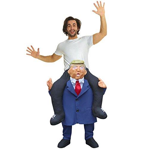 Costume unisex a forma di presidente degli Stati Uniti che ti porta a cavalluccio, con le gambe da imbottire autonomamente