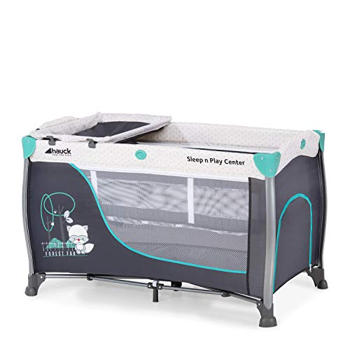 Hauck Sleep N Play Center 3 - Cuna de viaje 7piezas, de 0 meses a 15 kg, plegable, antivuelco, doble...