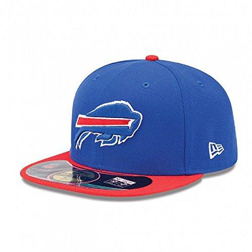 New Era NFL Mens Buffalo Bills On Field 5950 Royal Blue Game Cap By