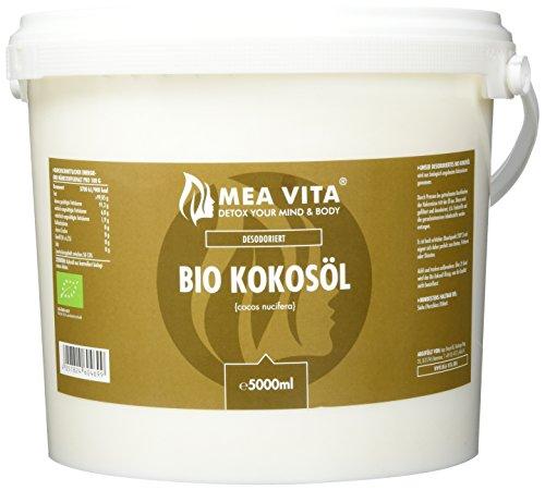 MeaVita Bio Kokosöl, Geschmacksneutral (desodoriert), 1er Pack (1 x 5000 ml) (Kokos-öl-bad)