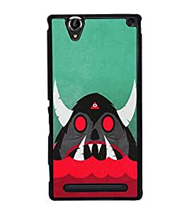 Cartoon Monster 2D Hard Polycarbonate Designer Back Case Cover for Sony Xperia T2 Ultra :: Sony Xperia T2 Ultra Dual SIM D5322 :: Sony Xperia T2 Ultra XM50h