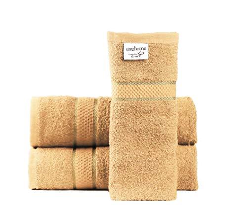100/%algod/ón, LETRAS INICIALES BORDADAS B Juego de 3 toallas beije fabricado en Portugal. 100x150, 50x100, 50x30